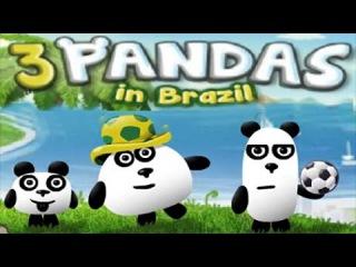 Мультфильм три панды в Бразилии игра онлайн прохождение 3 pandas in Brazil