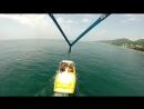 Полёт над Чёрным морем под куполом парашюта