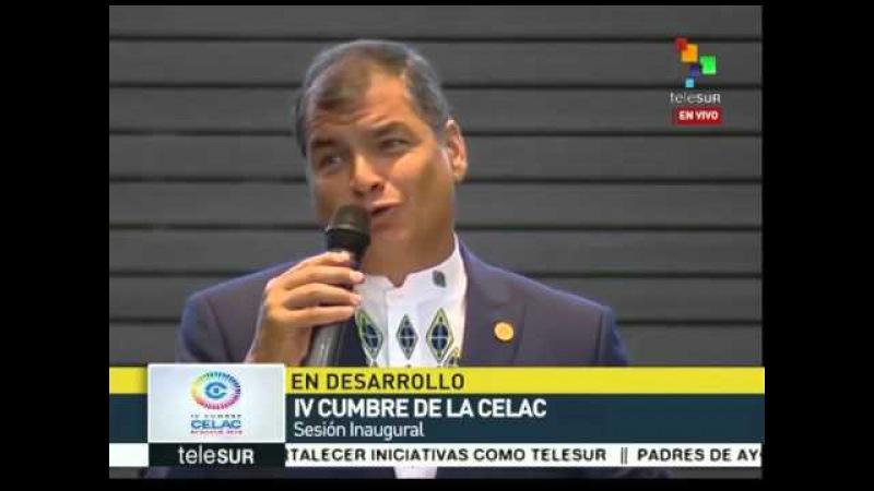Pdte Correa llama a mandatarios de la CELAC a establecer consensos