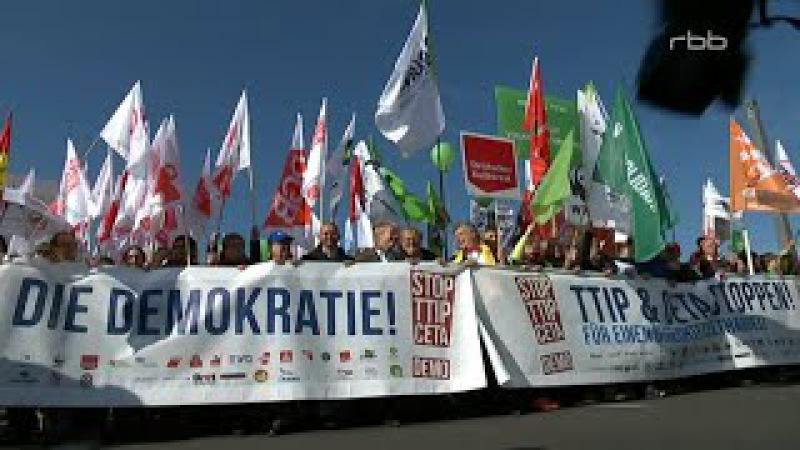 STOP TTIP CETA DEMO in Berlin 10 10 2015 mit bis zu 250 000 Teilnehmern Bananenrepublik