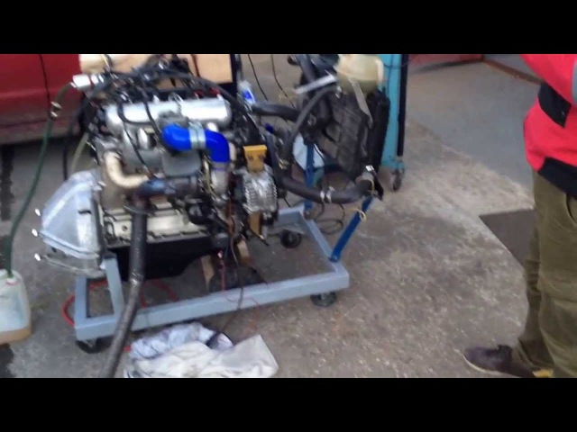Турбированный двигатель УМЗ - 417 (414) ТУРБО УАЗ 469 пробный запуск