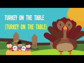 Thanksgiving Dinner | Song Lyrics Video for Kids | Thanksgiving Songs | The Kiboomers