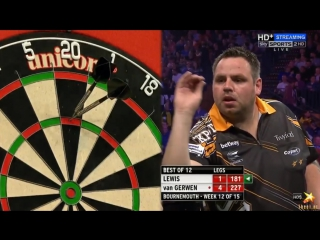 Adrian Lewis vs Michael van Gerwen (2016 Premier League Darts / Week 12)