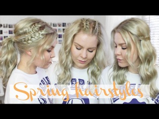 3 Braided Spring Hairstyles  HEATLESS Everyday Hairstyles | ShinyLipsTv