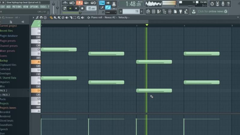 Slow hiphoprap beat - lyrical vol 2