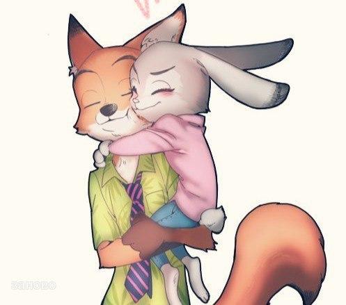 волк целует зайца картинки поставить холодильник
