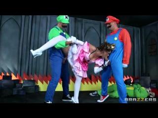 Братья Марио вдвоем ебут принцессу - Трахалка   Порно