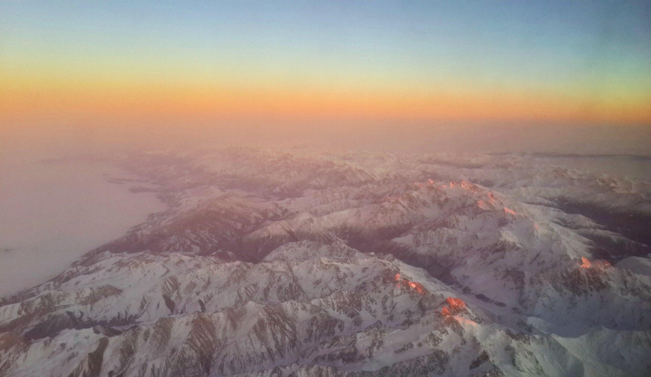 Закат над Кавказом, ноябрь 2016