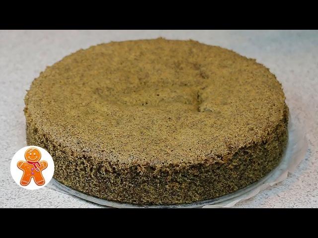 Маковый Бисквит ✧ Школа Домашнего Кондитера ✧ Poppy Seed Sponge Cake English Subtitles