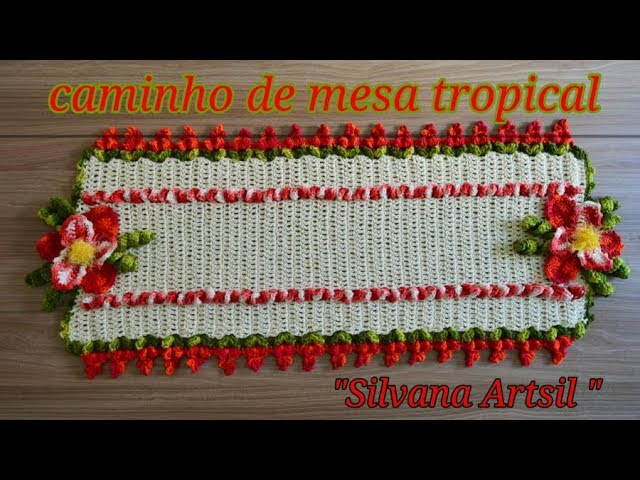 Caminho de mesa tropical por Silvana Artsil