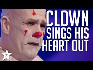 Sad Clown Stuns Crowd with Sia's Chandelier on America's Got Talent 2017 | Got Talent Global