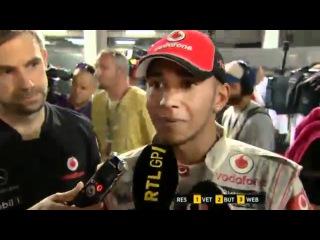 F1 2011 - 14 Singapore GP - Angry Felipe Massa vs Lewis Hamilton - Don't touch me man!