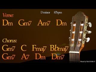 Relaxing Chillout Rumba Flamenco Guitar Backing Track D minor