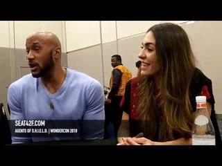 Agents Of SHIELD Henry Simmons, Natalia Cordova-Buckley Interview WonderCon 2018 HD