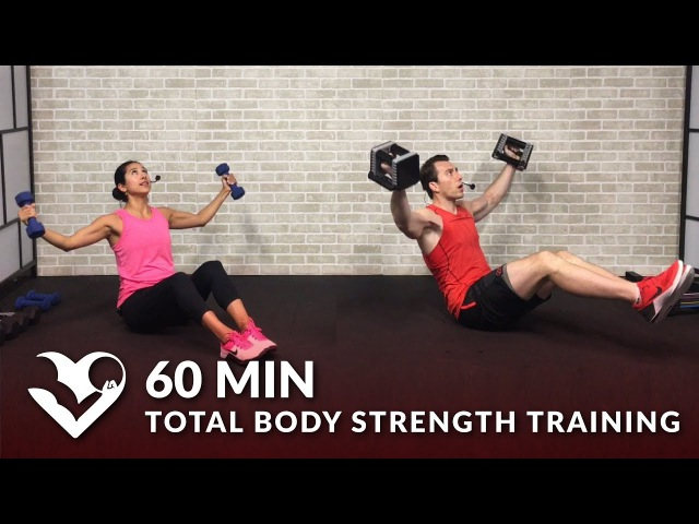 HASfit 60 Minute Workout for Strength Total Body Strength Training for Women Men with Weights at Home Силовая тренировка для всего тела