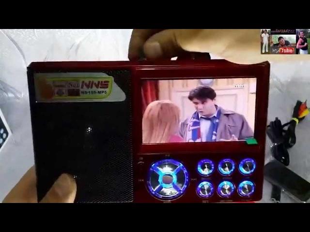 Цифровой Радиоприёмник с Видеоплеером Nns Ns 155 Колонка с Дисплеем Видео