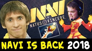 Na`Vi comebacks: mega creeps,  more than 20k deficit, Dota plus 0% win rate prediction, Lina rapier