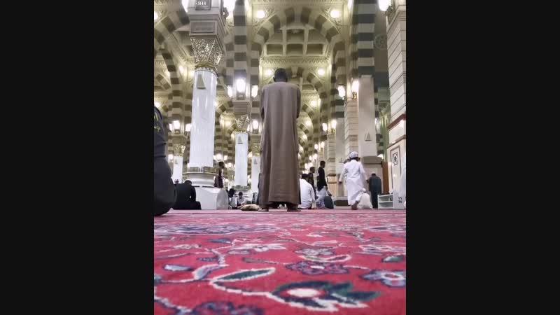اسعد الله صباحكم من مسجد رسول الله صلى الله عليه وسلم 💙 نستفتح صباحنا بهذه التلاوة للشيخ إبراهيم مدهش