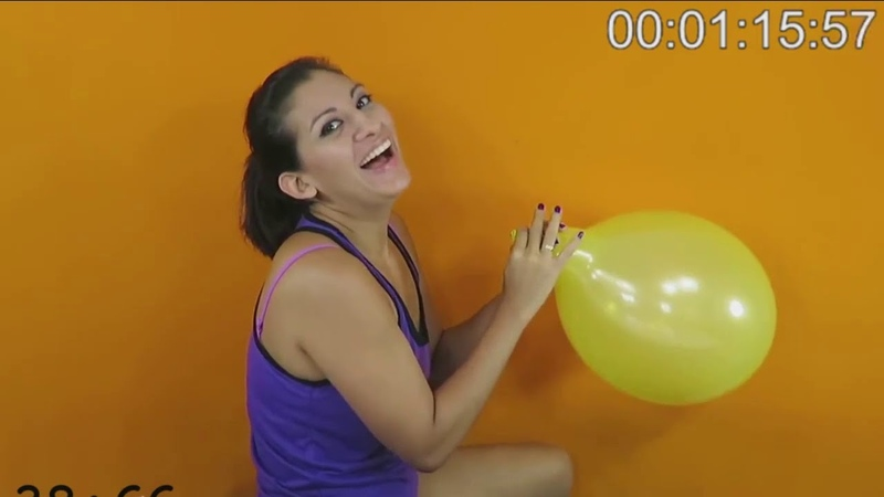 How fast can you blow up a balloon until it pops and laughter ensues