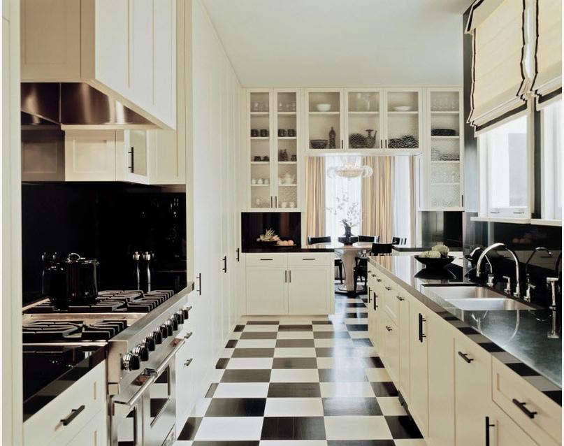 Черно-белая кухня – особенности контрастного дизайна., изображение №14