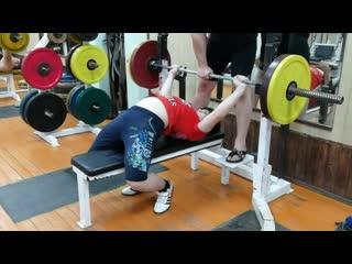 13-ти летний Георгий Жигалин 100 кг на 4 раза