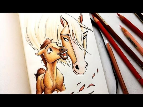 Drawing Spirit stallion of the cimarron fan art Leontine van vliet