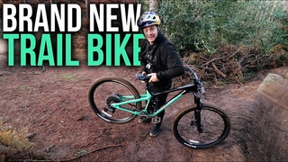 BUILDING AND RIDING A BRAND NEW TRAIL BIKE ON THE NEW FREERIDE LINE!!