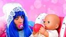 Смешные видео с куклой БЕБИ БОН - Принцесса ДИСНЕЯ стала маленькой! - Как Мама игры для девочек