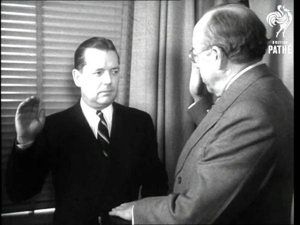 Griffis New U.S. Ambassador To Spain Sworn In (1951)