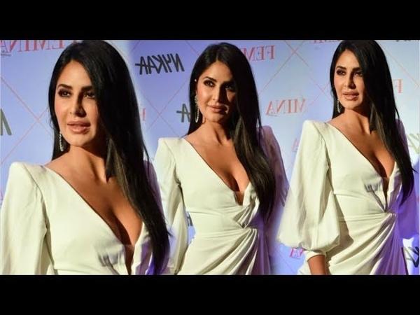 Katrina Kaif SMOKIN H0T Looks In White 0PEN Dress At Nykaa Femina Beauty Awards 2020