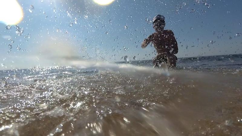 Пляж 117 Береговое Крым в аквабоксе