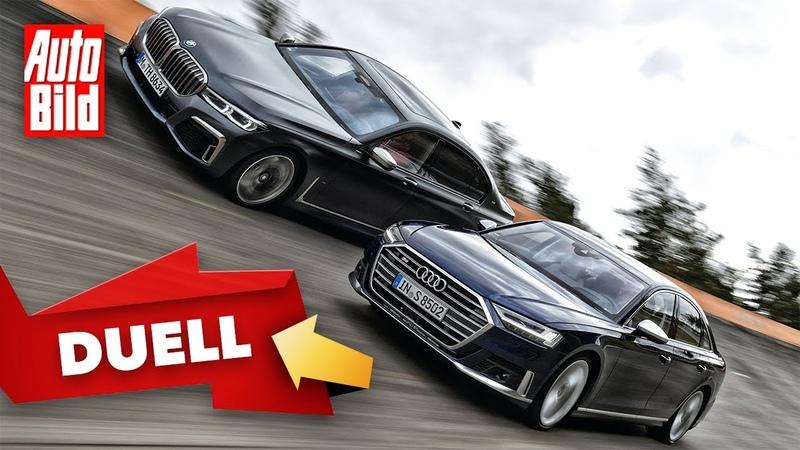 Duell hinter'm Deich Audi S8 vs BMW M760Li 2020 Test Vergleich Limousinen Infos deutsch