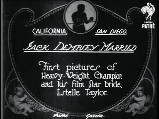 Jack Dempsey Married (1925)