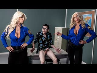 Brittany Andrews, Nicolette Shea - Fucking His Way Into the  (Big Ass, Big Tits, BLonde, Blowjob, Threesome, Uniform)