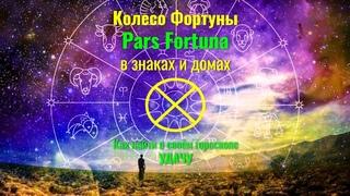 Как найти УДАЧУ в своём гороскопе ⊕ Колесо Фортуны - Pars Fortuna в знаках и домах Часть1