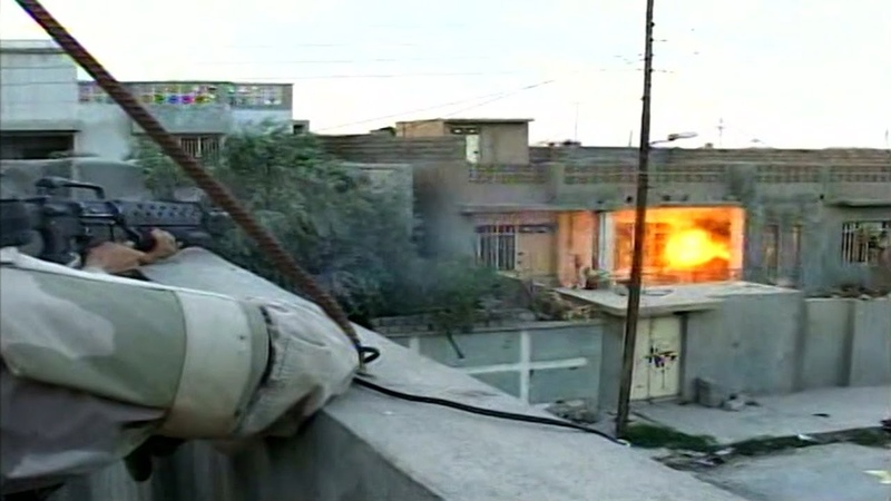 Iraq War - Soldiers Engage Sniper In Tal Afar