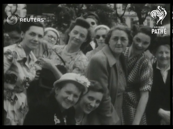 Cultural events include flower show wedding 1951
