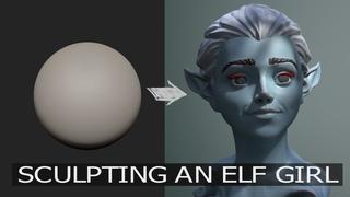 Zbrush Head Sculpt 27 - Elf Girl