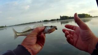Джиг спиннинг на степной речке  в заброд, ловля судачков и щуки,поймал отпусти.