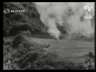 BURMA: Latest pictures of fighting in Arakan Jungle. (1944)