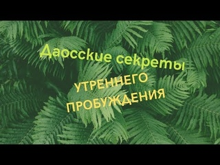 Даосские секреты утреннего пробуждения.Екатерина Федорова