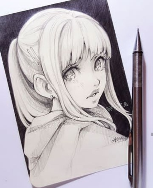 drawing ideas anime - 640×799