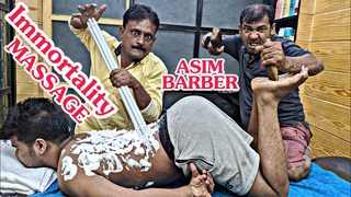 Fight Back With Asim Barber And GURU Of Asim Barber | Full Body Massage With Lots of Cracks | ASMR