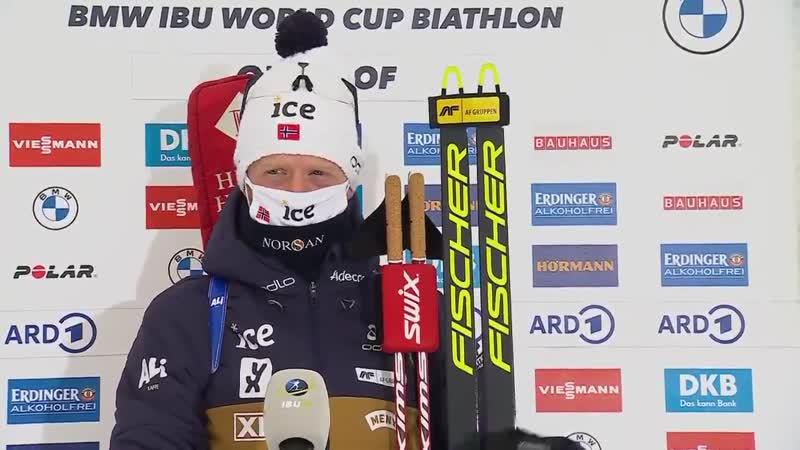 Йоханнес Бё о победе в спринте Оберхофа 2021
