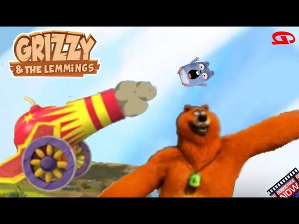 Grizzy and the Lemmings: Cannon 1306m Boomerang Games