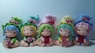 DIY-  DUENDEZINHAS DAS FLORES DE BISCUIT- ( Toys, Porcelana fria, polymer clay)