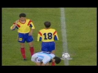 World Cup ITALY 1990 - Argentina Vs Romania 1-1 [Part II]