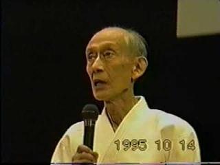 Second Dosyu Ueshiba Kissyomaru and Saito Morihiro Shihan 's Demonstration