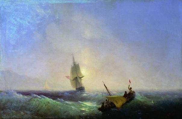 Морские катастрофы в творчестве Айвазовского Тема кораблекрушения для великого русского мариниста Ивана Константиновича Айвазовского была одной из самых любимых. Он написал много ярких