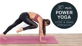 Power Yoga Workout [ Burn Belly Fat ] Core & Upper Body Strength